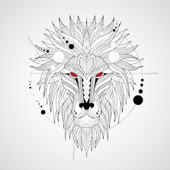Geometrical lion design background