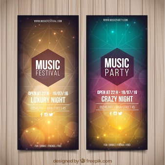 Geometrical party flyer set