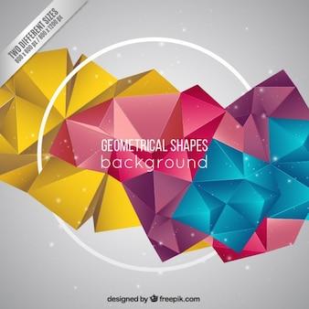 Geometrical shapes background