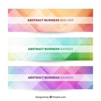 Geometrical shapes stylish business banners