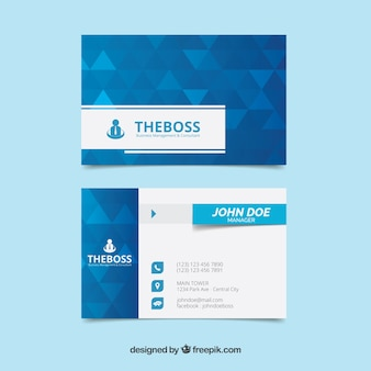 Geometry business card