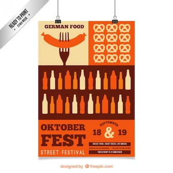 German oktoberfest poster