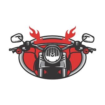 ゴーストライダーの頭蓋骨バイバイザーベクトルマスコットイラスト