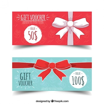 Gift banner with bow