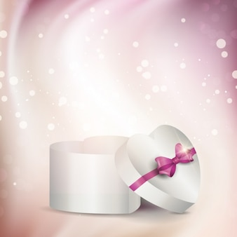 Gift box in heart form
