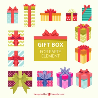 Gift boxes for party element