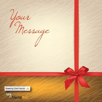 Gift card with linen texture background