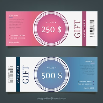 Gift Coupon Template Pack