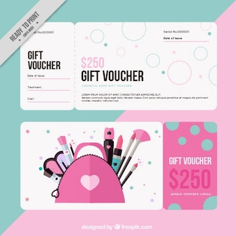 Gift voucher for cosmetics