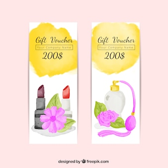 Gift vouchers set of beauty