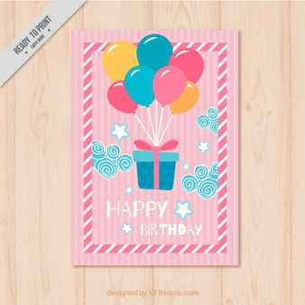 Gift with full color balloons
