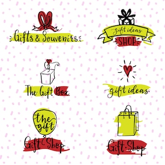 Gifts logo set
