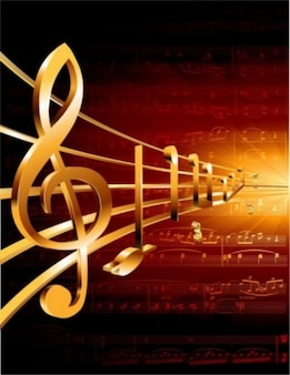Gilded music vector