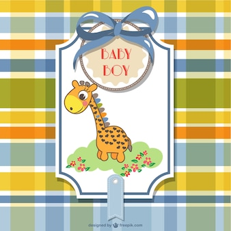 giraffe in a baby shower card