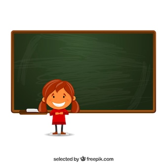Girl and a chalkboard