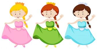Girl in princess costume