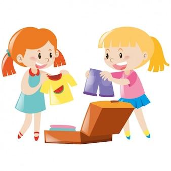 Girls playing design