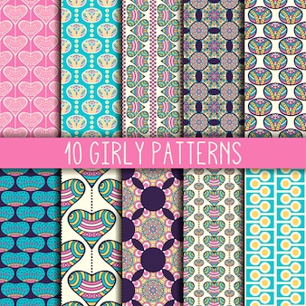 Girly pattern collection