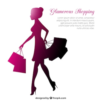 Glamorous shopping