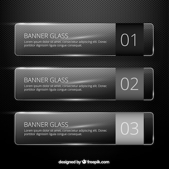 Glass banners template