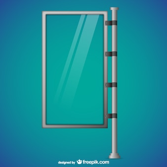 Glass billboard vector