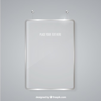 Glass frame for message