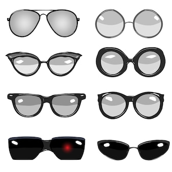 Glasses illustrations collection