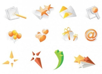 Glassy orange icons