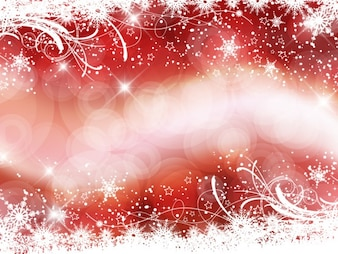 Glitter and bokeh red background