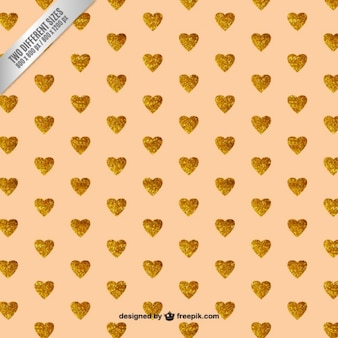 Glitter hearts background