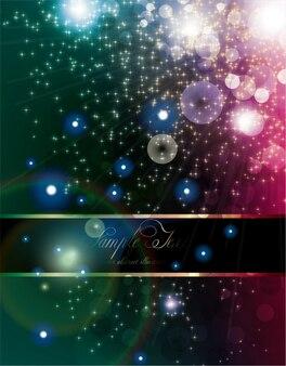 Glitter north stars stripes colorful