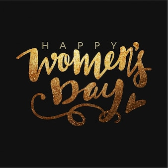 Glittering background of women's day