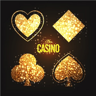 Glittering poker card symbols