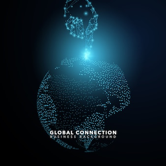 Global conection background