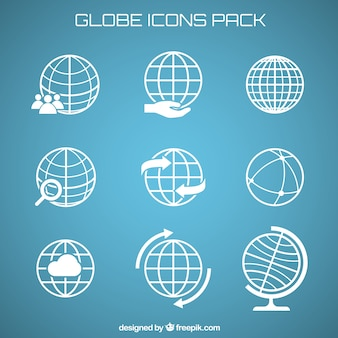 Globe icons pack