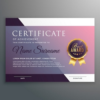 Glossy certificate