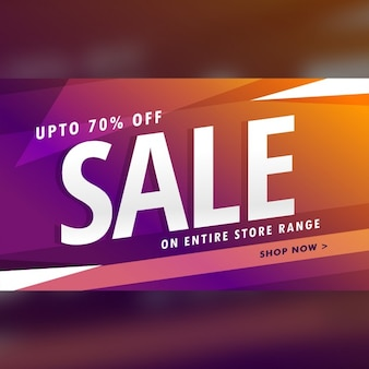 Glossy discount banner