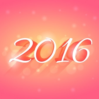 glowing 2016 new year card