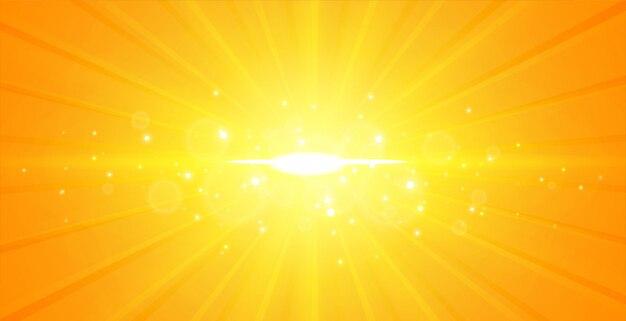 Glowing center light rays yellow background