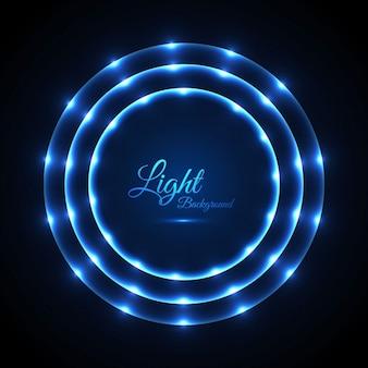 Glowing circular lights background