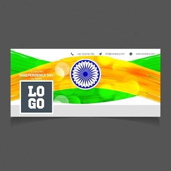 Glowing cover independence day of india