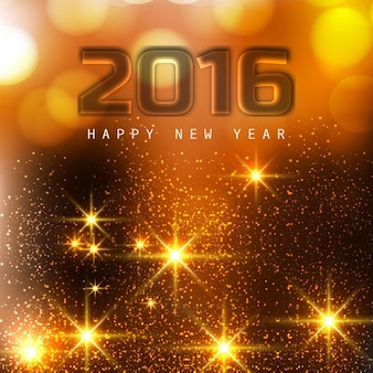 Glowing happy new year 2016 greeting