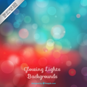 Glowing lights bokeh background