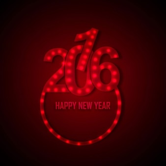 Glowing new year 2016 text