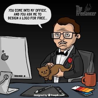 Godfather film joke about designers