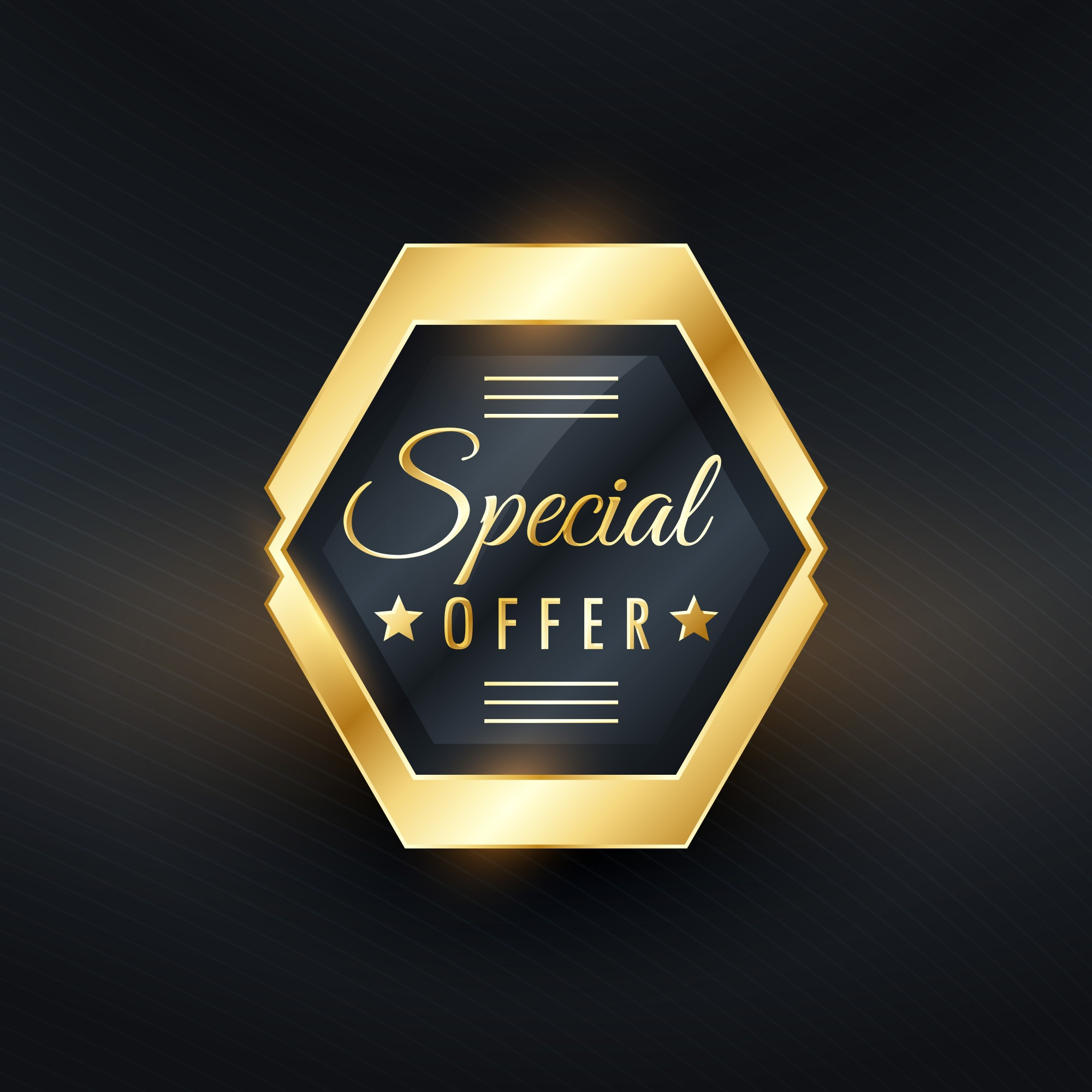 Gold label for special price