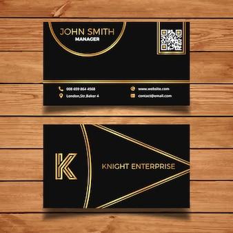 Golden and dark business card