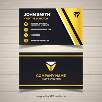 Golden and dark business card