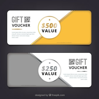 Golden and silver discount coupons