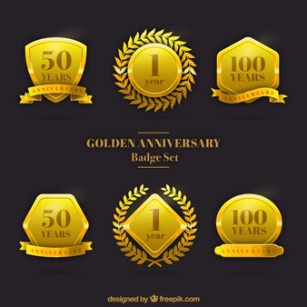 Golden anniversary badge set